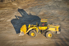 Loader excavator construction machinery equipment Stock Photo
