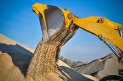 Loader excavator construction machinery equipment Stock Image