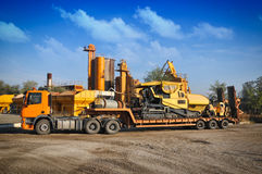 Loader excavator construction machinery equipment royalty free stock photography