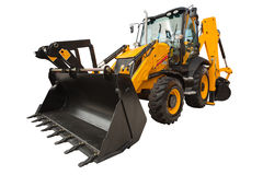 Loader excavator isolated with clipping path Stock Photo