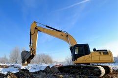 Loader excavator machine royalty free stock image