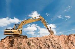 Loader excavator machine royalty free stock photography