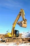 Loader excavator in open cast stock photo
