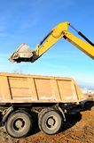 Loader excavator and rear-end royalty free stock image