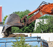 Loader of the excavator royalty free stock photography