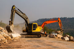 Loader excavators royalty free stock photos