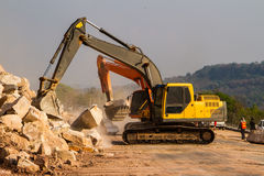 Loader excavators Stock Photos