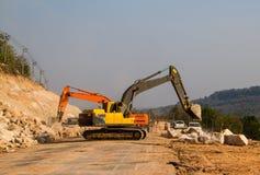 Loader excavators stock images