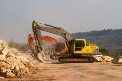 Loader excavators Royalty Free Stock Images