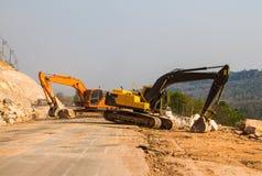 Loader excavators stock photos