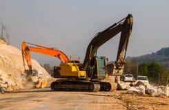 Loader excavators royalty free stock images