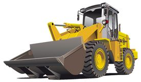 Loader_front. Detailed ial image of pale brown loader, isolated on white background. Contains gradients Royalty Free Stock Image
