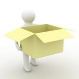Loader hold empty box. Stock Photo