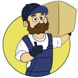 The loader holh the box stock illustration