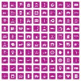 100 loader icons set grunge pink. 100 loader icons set in grunge style pink color isolated on white background vector illustration Stock Photos