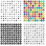 100 loader icons set vector variant. 100 loader icons set vector in 4 variant for any web design isolated on white Royalty Free Stock Image
