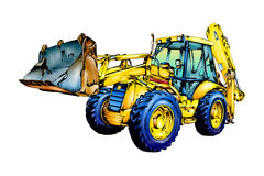 Loader illustration color  art Royalty Free Stock Images