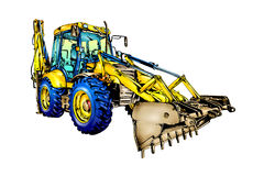 Loader illustration color  art Stock Images