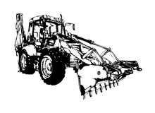 Loader illustration color art Stock Photo