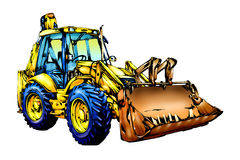 Loader illustration color  art Royalty Free Stock Photo