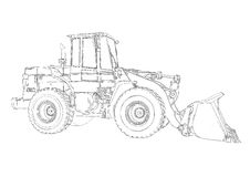 Loader illustration drawing art Stock Photo