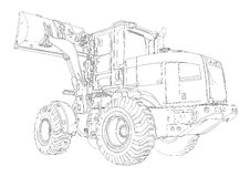 Loader illustration drawing art Stock Image