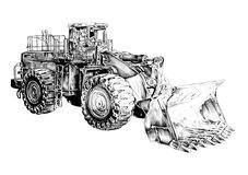 Loader illustration drawing art Stock Images