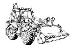 Loader illustration drawing art Royalty Free Stock Image