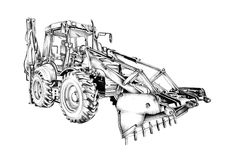 Loader illustration drawing art Stock Photos