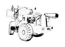 Loader illustration drawing art Royalty Free Stock Images