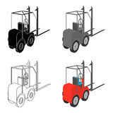 Loader for moving loads. Transportation and delivery single icon in cartoon style isometric vector symbol stock Stock Photo