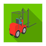 Loader for moving loads. Transportation and delivery single icon in flat style isometric vector symbol stock Stock Photography
