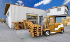 Loader with pallet Stock Image