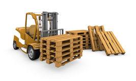Loader with pallets Stock Photo