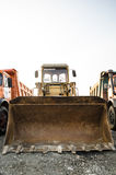Loader. Parked loader truck in a construction yard Royalty Free Stock Photo