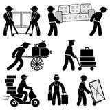 Loader people icons Royalty Free Stock Photos