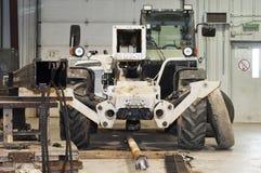 Loader before repair. Garage. Repair of special equipment. Loader before repair Stock Images
