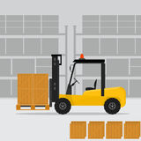 Loader truck in flat style. Royalty Free Stock Photos
