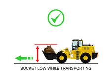 Loader work dangers Royalty Free Stock Photography