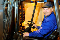Loader worker at warehouse Stock Photography