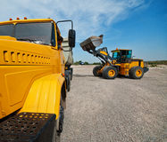 Loader works Royalty Free Stock Photo