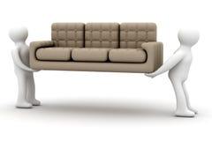Loaders transfer a sofa. Stock Photo