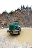Loading aggregate in the quarry. Loading rock aggregate in the quarry Royalty Free Stock Images