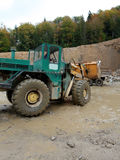 Loading aggregate in the quarry. Loading rock aggregate in the quarry Stock Photos