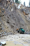 Loading aggregate in the quarry. Loading rock aggregate in the quarry Royalty Free Stock Photos