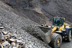 Loading aggregate in the quarry. Loading rock aggregate in the quarry Stock Image