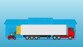 Loading And Unloading Of Ports Activity Iilustration Stock Photo