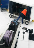 Loading baggage Royalty Free Stock Images
