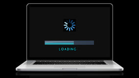 Loading Bar Animation Notebook Computer stock footage