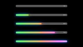 Loading bar color green Royalty Free Stock Image
